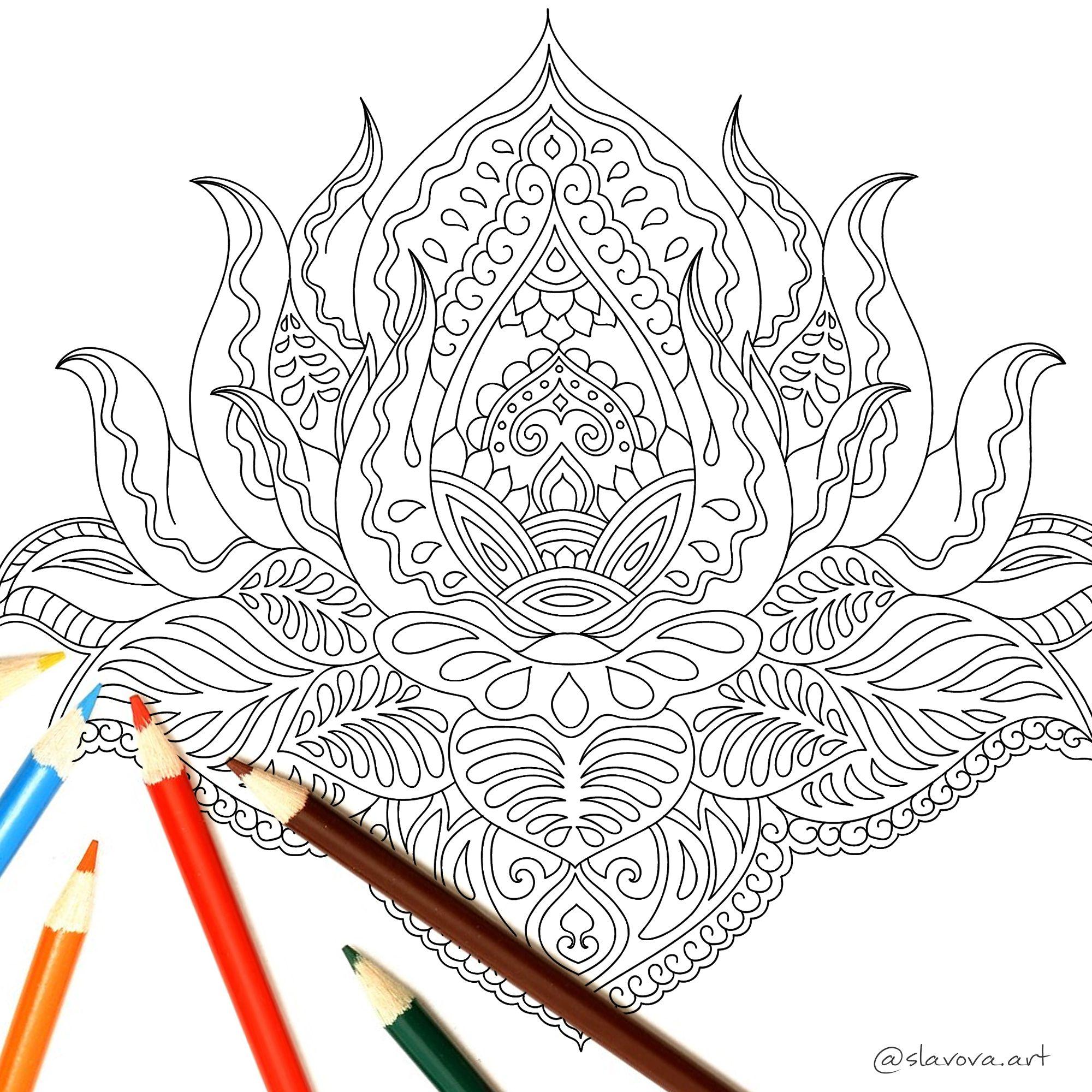 Lotus Flower From Mandala Coloring Book Www Amazon Com Dp 1720233713 Coloring Mandala Lotus Mandal Mandala Coloring Books Coloring Books Mandala Coloring
