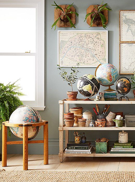 4 Inspiring Ways To Decorate With Maps And Globes With Images