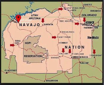 Navajo Nation Map Antelope Canyon Mcschutsgeesliketocamp Navajo