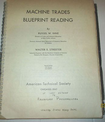 1942 ww ii era training course machine trades blueprint reading 1942 ww ii era training course machine trades blueprint reading with tests sample malvernweather Gallery