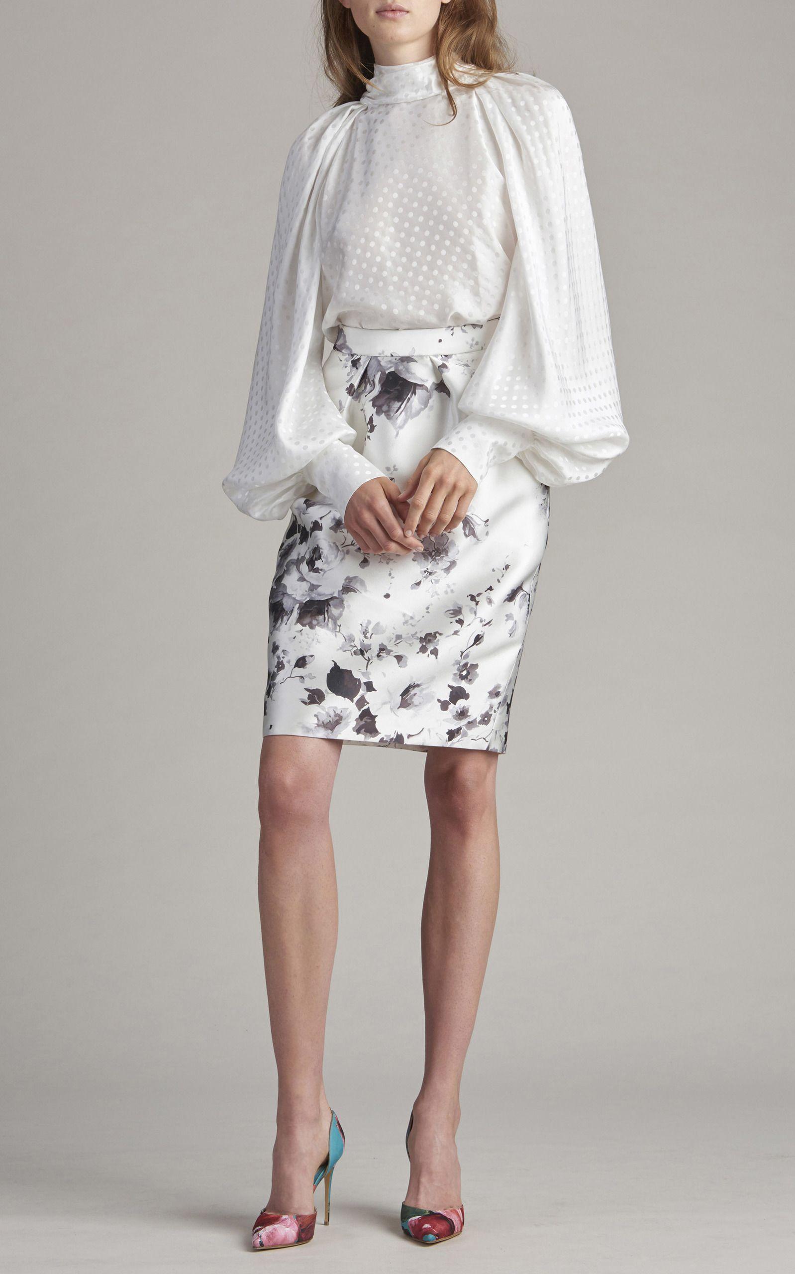 aa4d8839ad Long Silk Skirt, Long Pencil Skirt, Printed Pencil Skirt, Floral Print Skirt ,