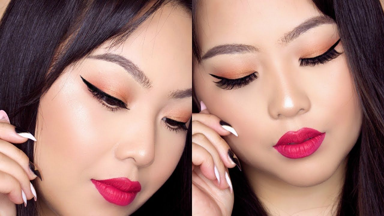 SUMMER GLOWY MAC COSMETICS EYE SHADOW MAKEUP TUTORIAL ON ASIAN HOODED EYES