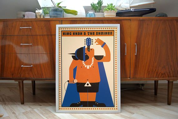 King khan & the shrines screen print limited of 10