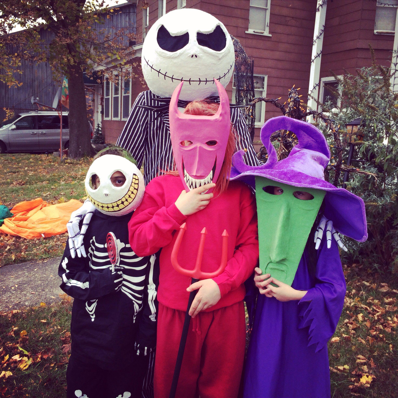 Nightmare Before Christmas Halloween costumes jack lock shock and ...