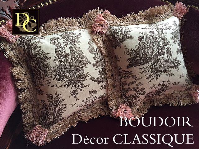 Petit Toile de Jouy Pillows