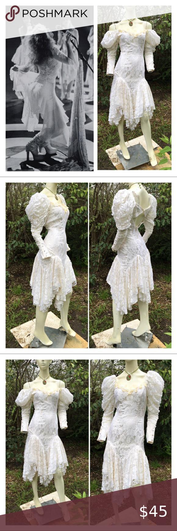 80s Stevie Nicks Madonna Lace Goth Romantic Dress Romantic Dress Romantic Dresses Vintage Dresses [ 1740 x 580 Pixel ]