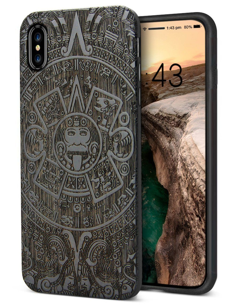 iphone x case for men, unique handmade real wood engraving totemiphone x case for men, unique handmade real wood engraving totem protective bumper for apple iphone x