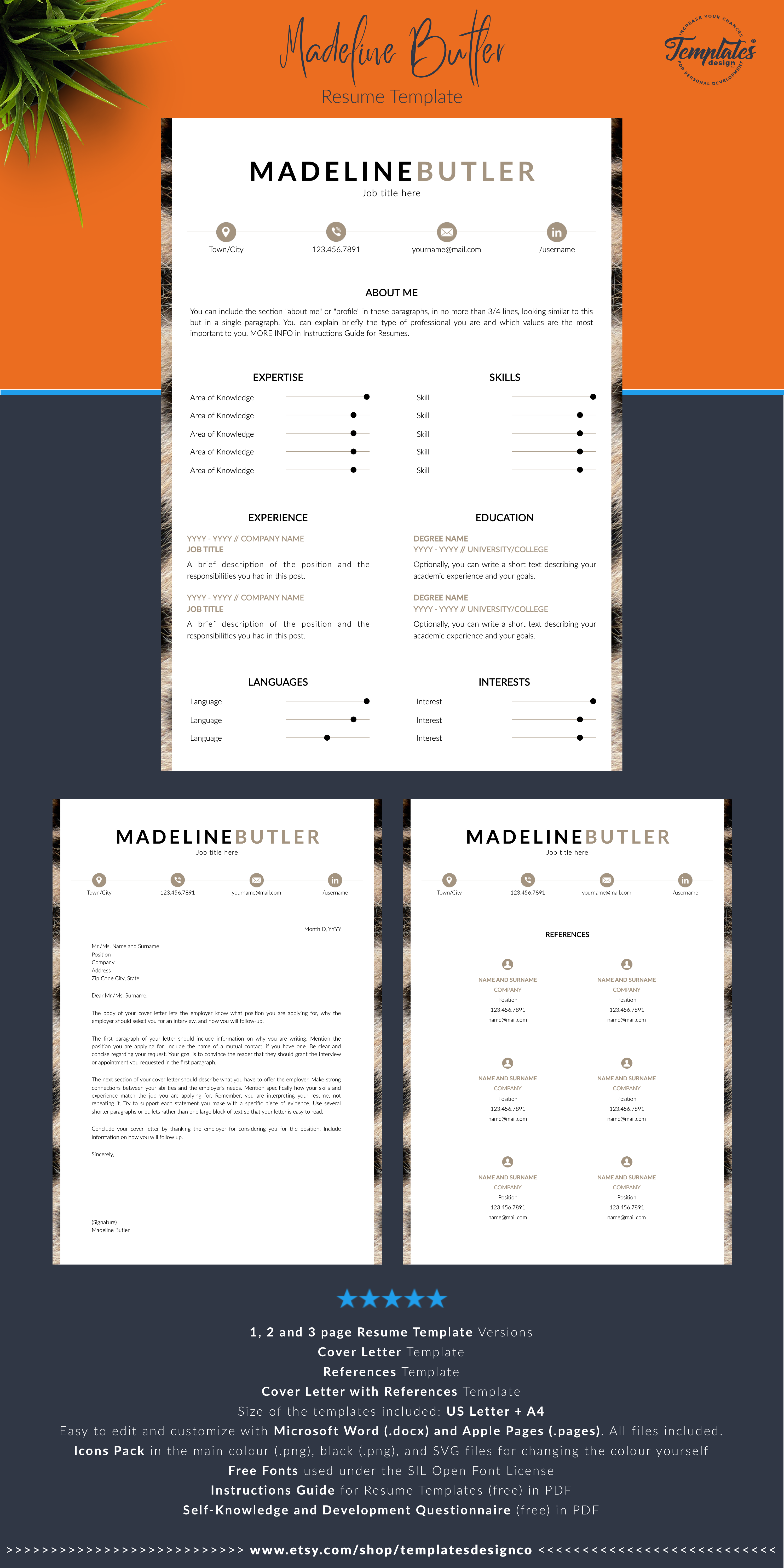 Veterinarian Resume Template For Ms Word Pages Cv For Veterinarian Veterinarian Assistant Or Associate Veterinarian Instant Download Resume Template Reference Letter Template Cover Letter Template