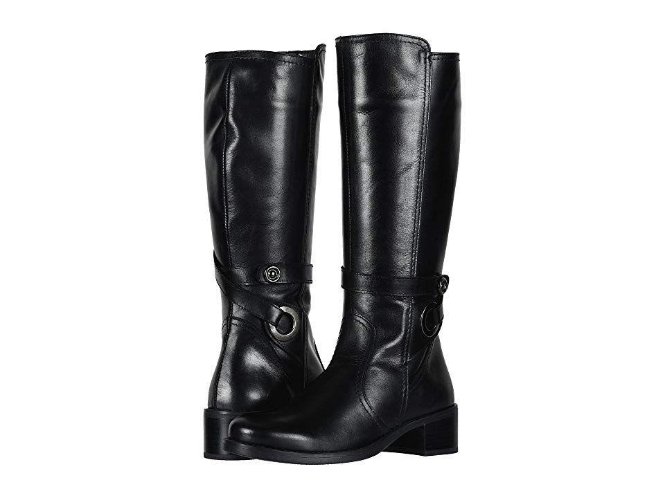 9b1e5d50036f David Tate Portofino (Black Calf Skin) Women s Dress Pull-on Boots. The