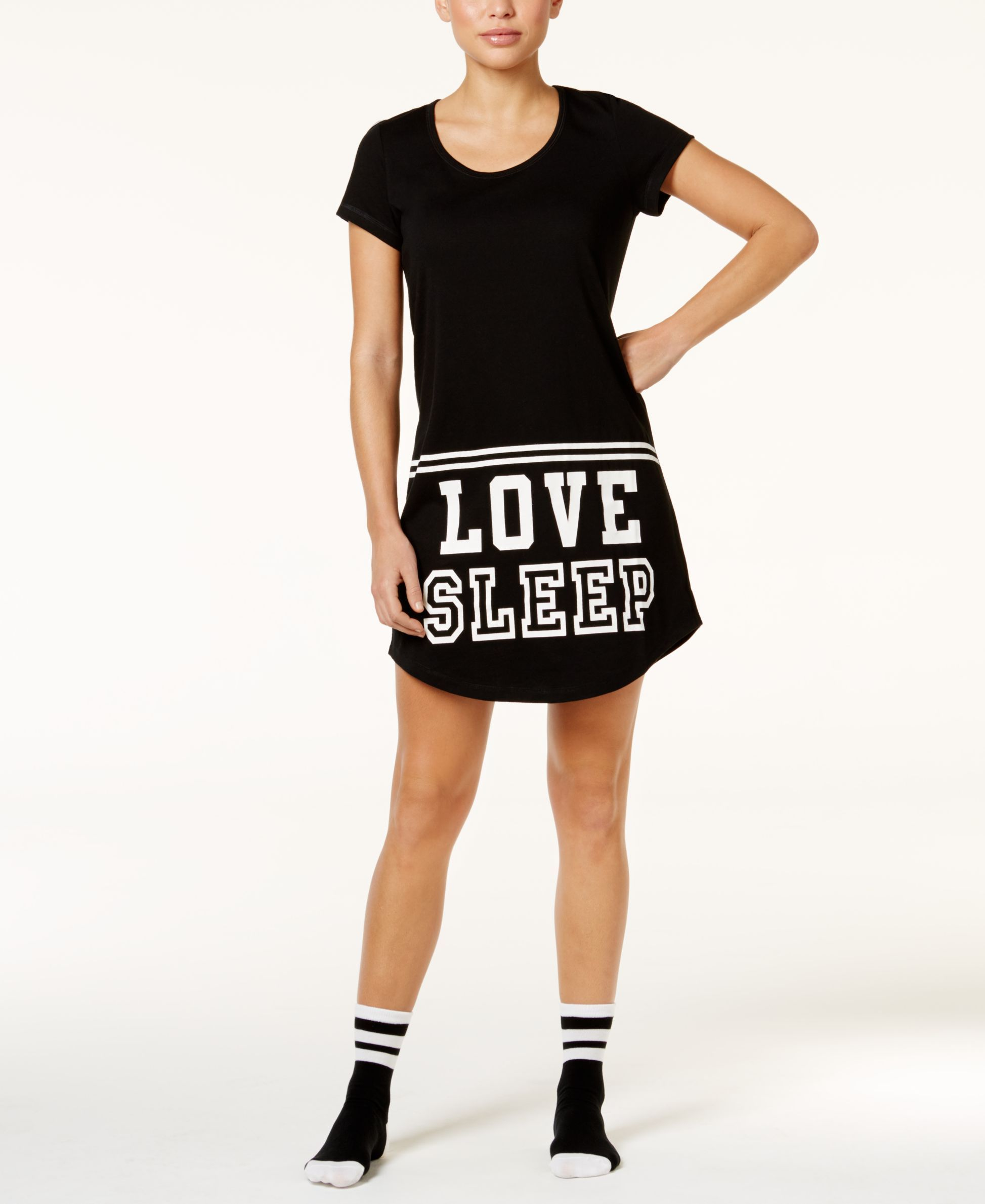 Jenni by Jennifer Moore Printed Sleepshirt and Socks Set, Only at Macy's