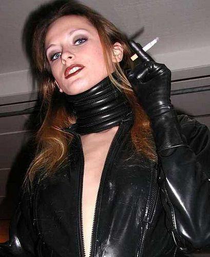 Leather Women Smoking
