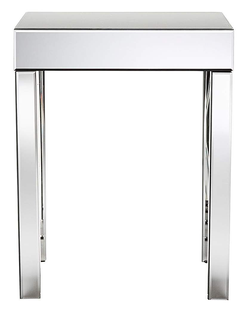 Strange Monaco Mirrored Side Table Products Mirrored Side Tables Pabps2019 Chair Design Images Pabps2019Com