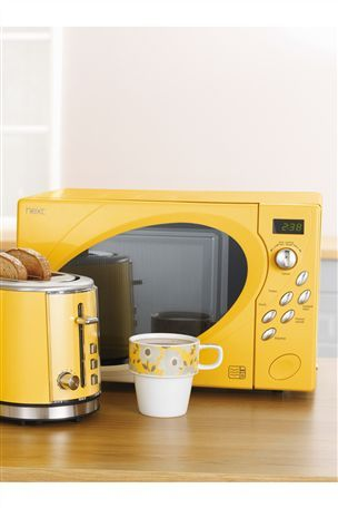 Next Yellow 800w Microwave Small Microwave Oven Kitchen Decor Inspiration Small Microwave