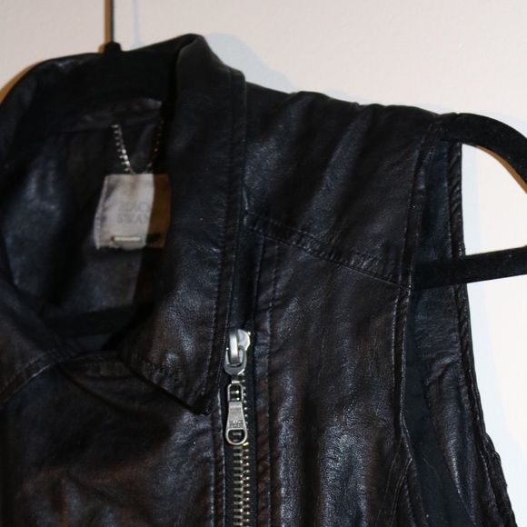 BLACK SWAN FAUX LEATHER VEST SUPER SOFT AND BUTTERY FAUX LEATHER. Jackets & Coats Vests