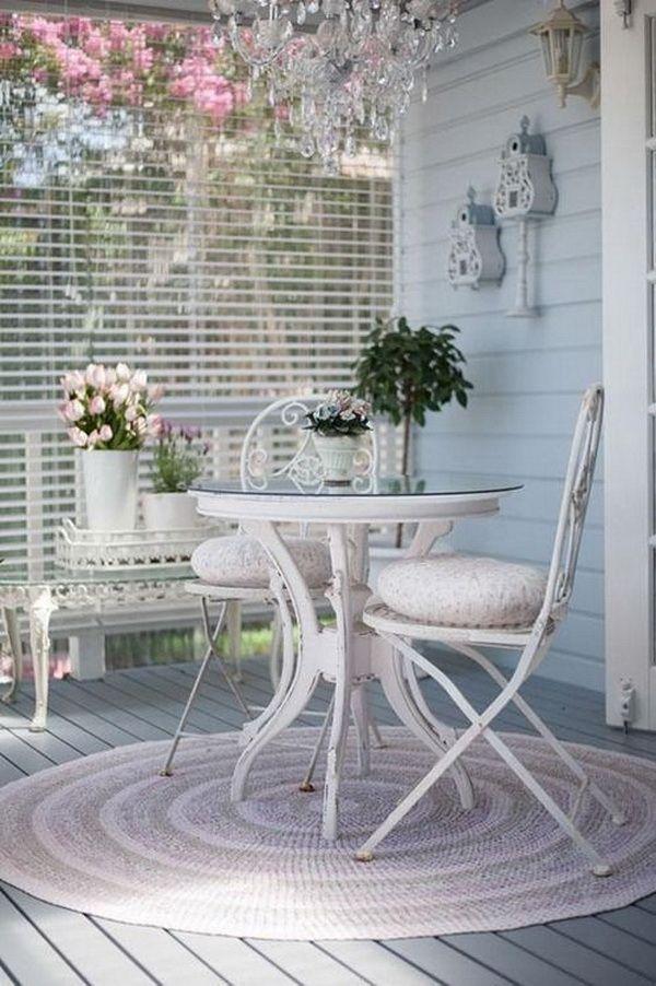 Beautiful Shabby Chic Balcony Refresh Your Garden Or Balcony In