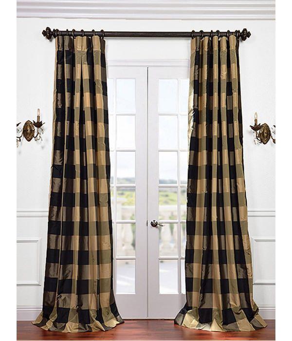 Eastwood Silk Taffeta Plaid Curtain Plaid Curtains Curtains
