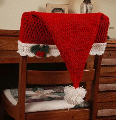 Crochet Christmas Chair Covers Sleek Office Dress Up Your Chairs For Pinterest