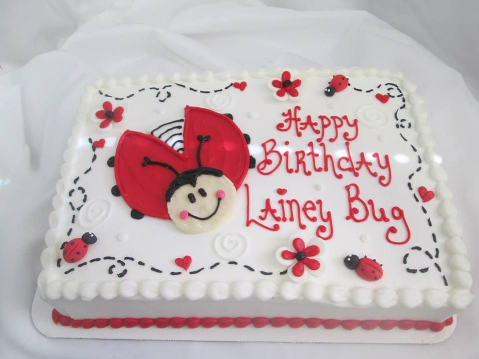 Enjoyable Ladybug Birthday Sheet Cake Sugarshackscia With Images Birthday Cards Printable Benkemecafe Filternl