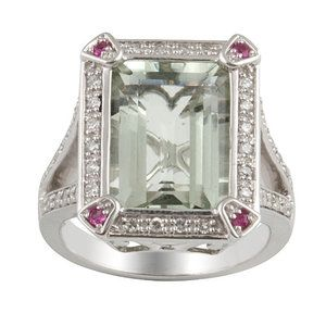 lan Jewelry Sterling Silver Gemstone Ring