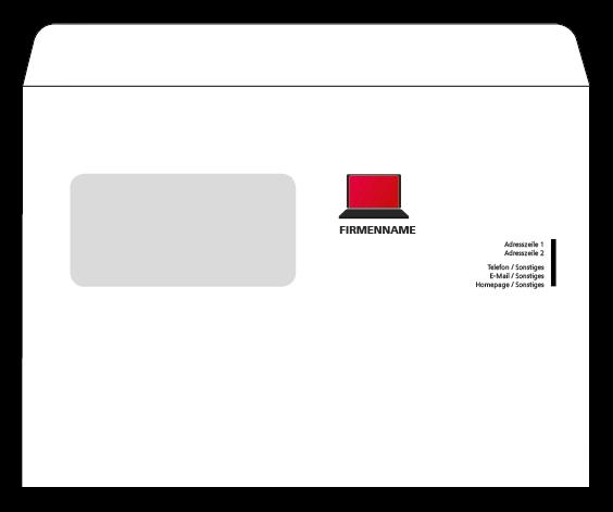 Wir Drucken Ihre Kuverts Gunstig In Verschiedenen Formaten Onlineprintxxl Kuvert Information Technologie Computer Kuvert Briefpapier Vorlage Briefumschlag