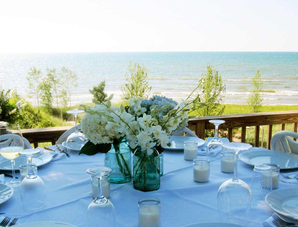 Ball Jar Wedding Decorations Blue Mason Jar Wedding Centerpieces  Google Search  Awww