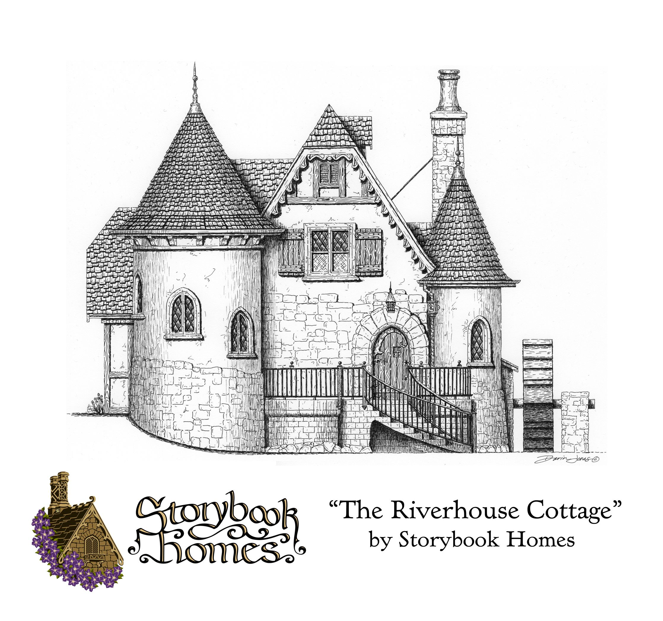 The riverhouse by storybook homes designed by samuel for Storybook cottage plans