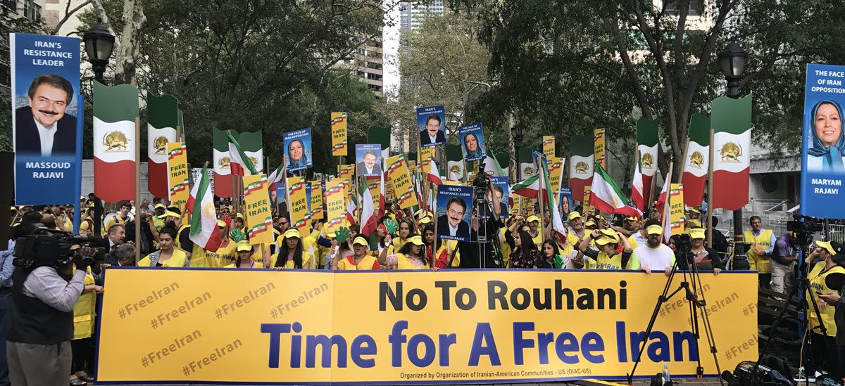 NCRI Staff NCRI - A huge crowd of human rights activists, politicians, and  people from the Iranian diaspora gathered outside the United Nations  General ...