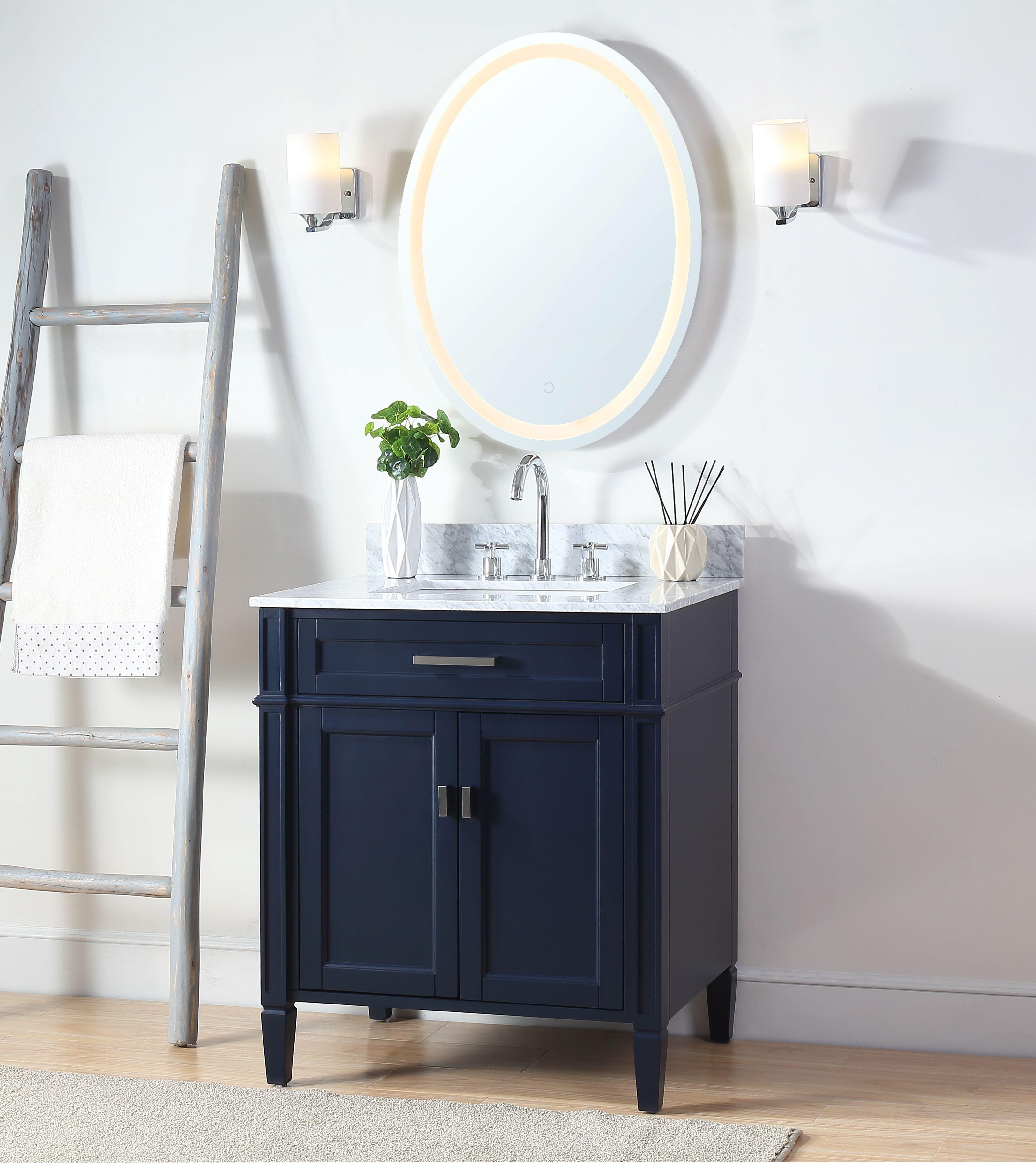 30 Tennant Brand Durand Navy Blue Bathroom Sink Vanity 30 Inch Bathroom Vanity Blue Bathroom Contemporary Bathroom Designs