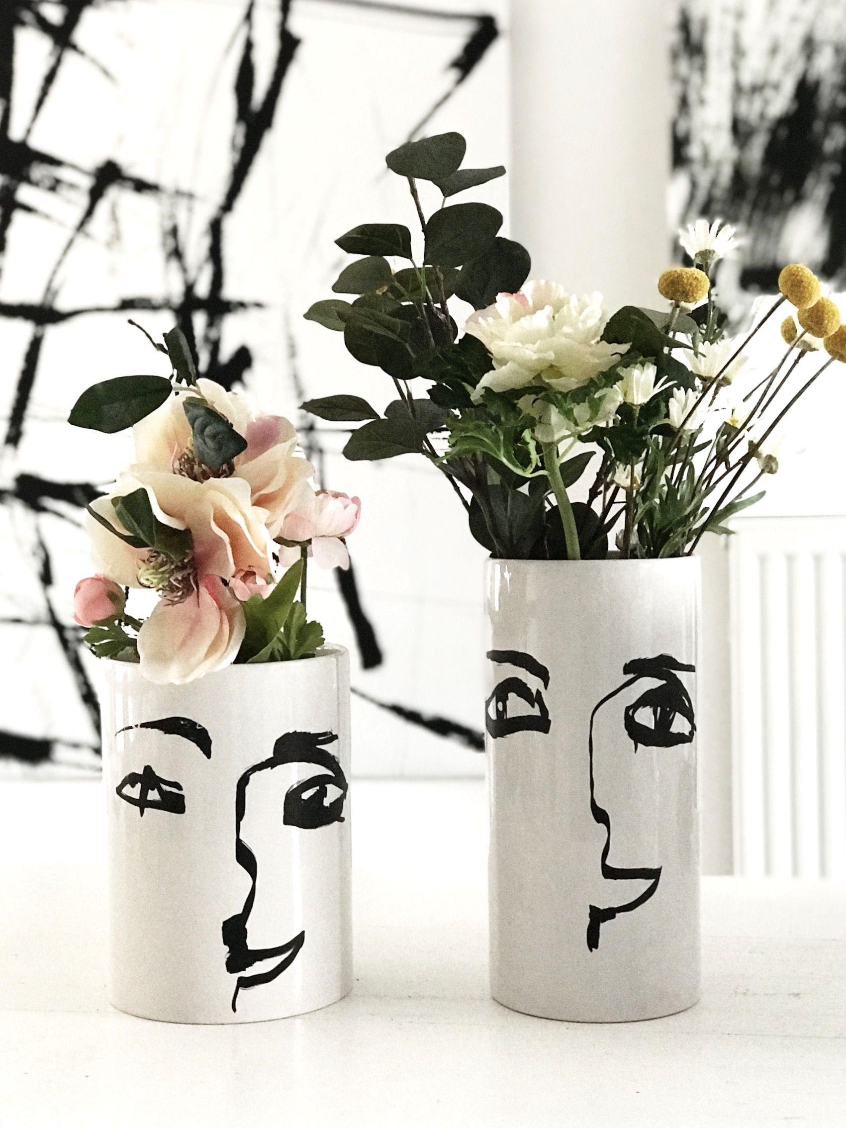 5 minuten diy  vase mit gesicht  sophiagaleria  diy