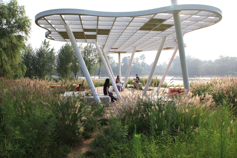 Parque Red Ribbon,Cortesía de Turenscape