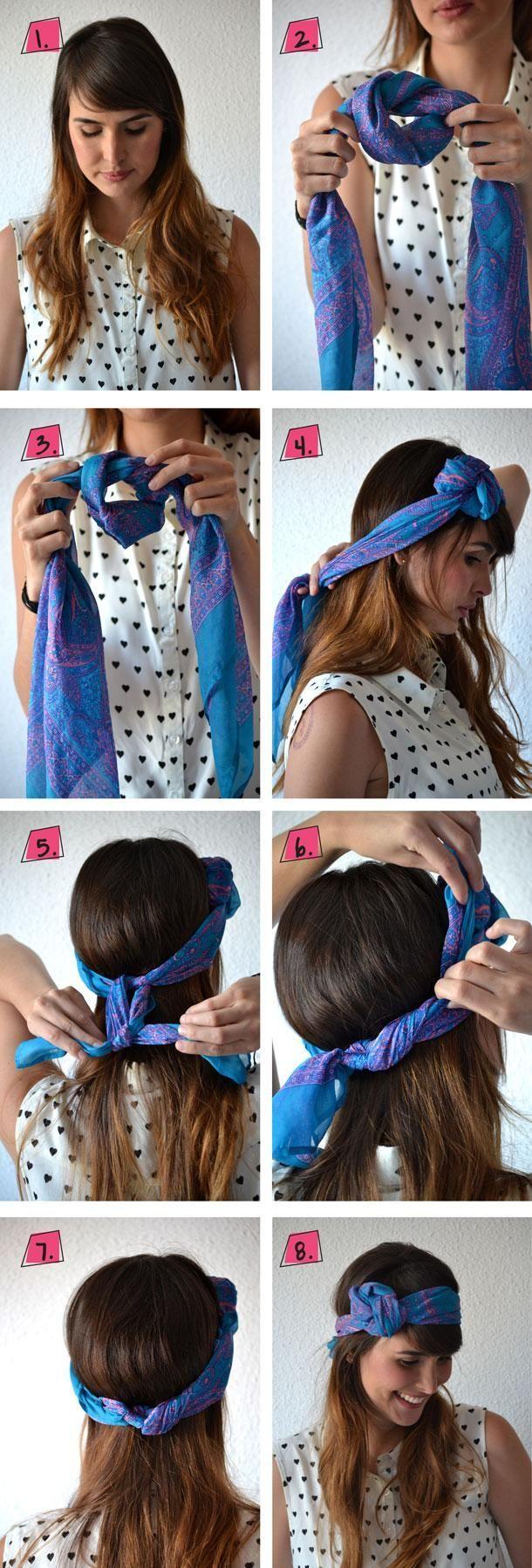 Cravate Bandana - 26 grands bandana firsuren avec instructions - -