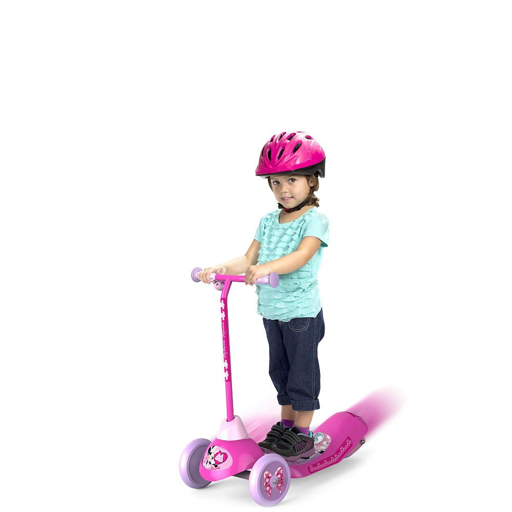 Disney Minnie Mouse Safe Start 3 Wheel Electric Scooter Pulse