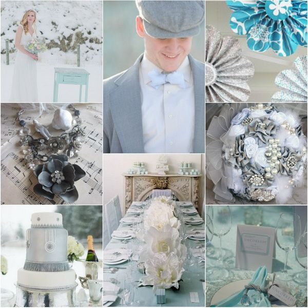 Ice Blue Grey Wedding Color Ideas For Winter 2017