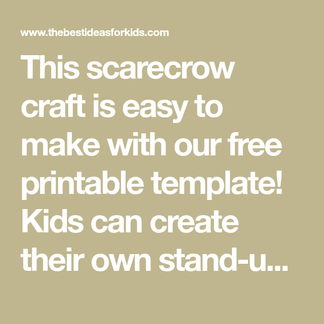 Scarecrow Craft (With images) | Scarecrow crafts, Template ...