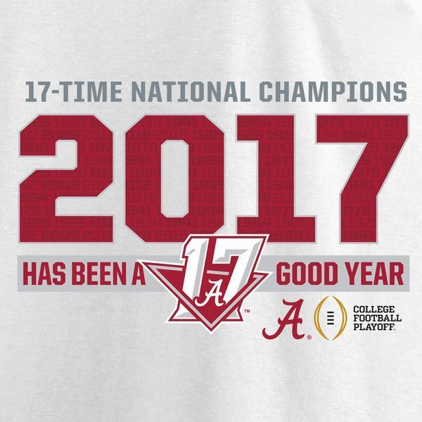 828a98ca2b4 Alabama Crimson Tide Fanatics Branded College Football Playoff 2017  National Champions Offside T-Shirt – White  Collegefootballbowls   CollegeFootball  ...