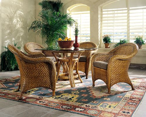 Monaco Indoor Wicker Dining Setdesigner Wicker  Mabank Lake Entrancing High Quality Dining Room Sets Review