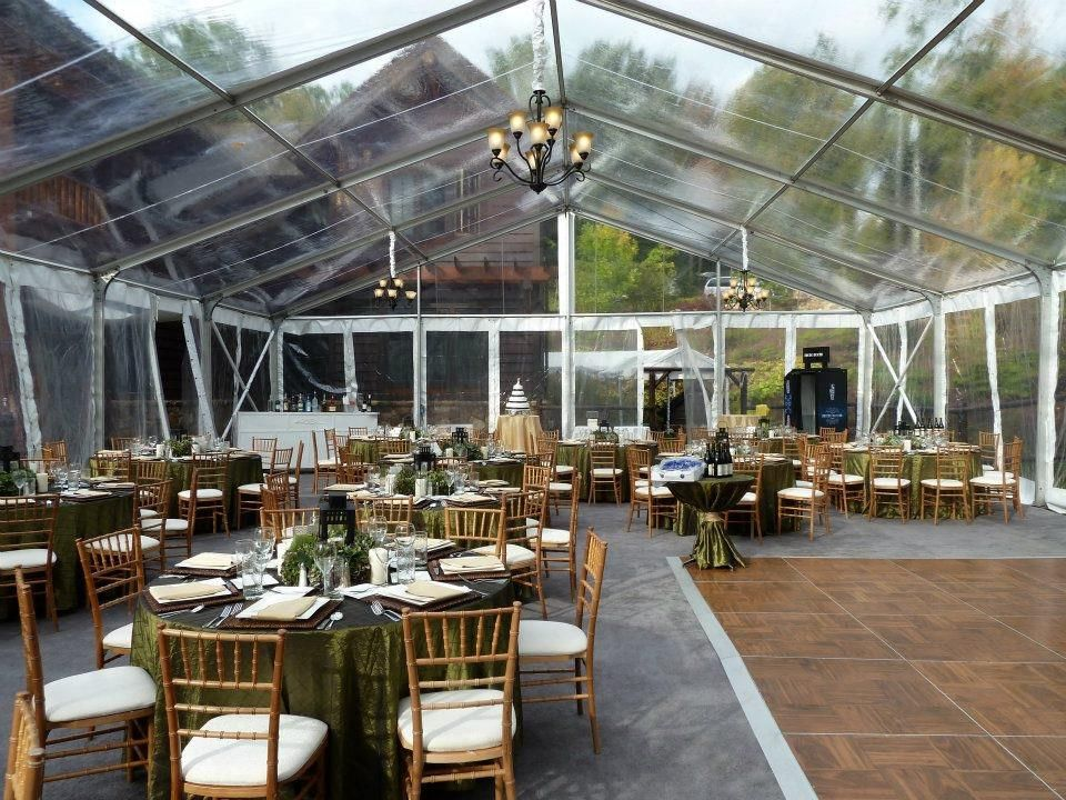 Clearspan Tent With Natural Chiavari Chairs Party Tent Rentals