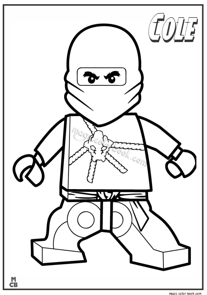 Ninjago Lego Coloring Pages cole 01 | boys birthday | Pinterest ...
