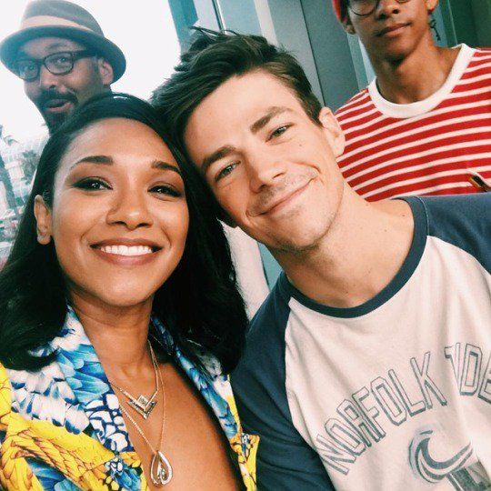 Candice Patton And Grant Gustin Twitter