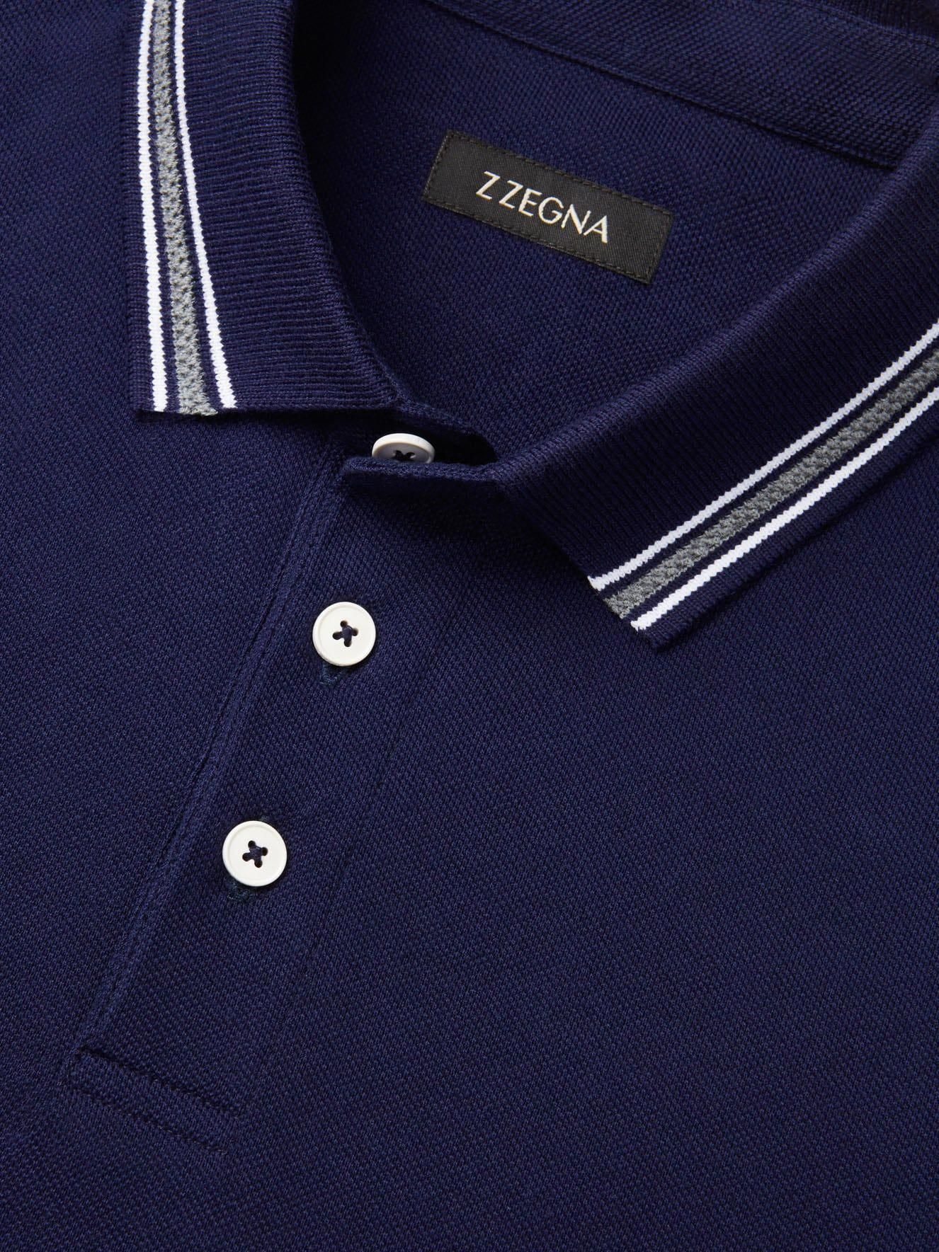 a23f4fe4 Navy Cotton Piqué Logo Polo Shirt #menst-shirtsdesign | t-shirt in ...