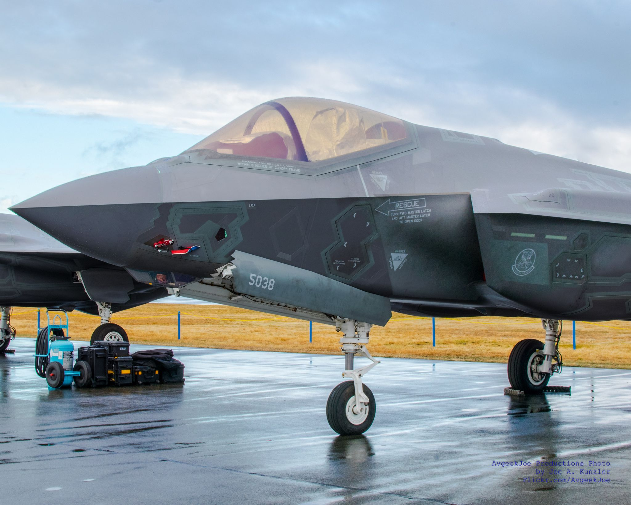 Hdr Of A F 35a Nose Fighter Jets Air Show Lockheed