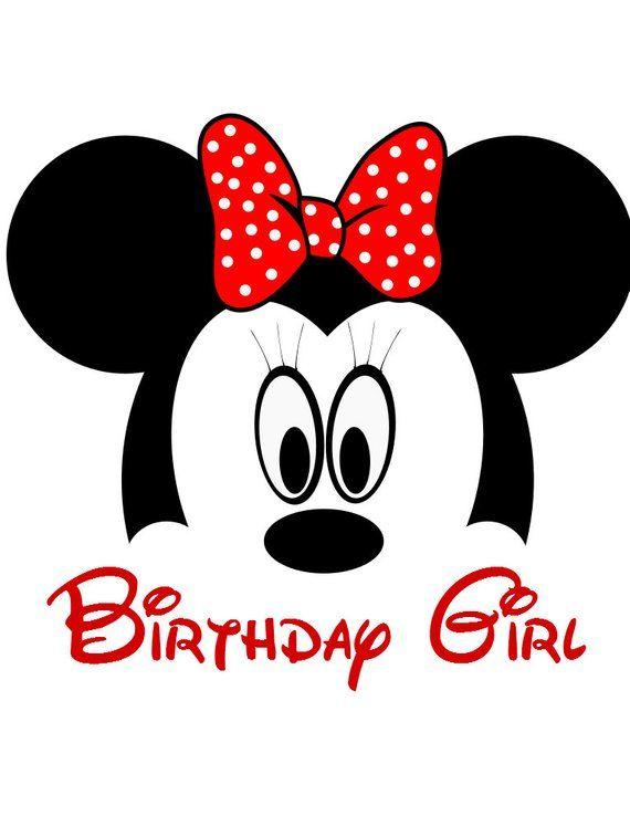22cec0d04 Custom Minnie Birthday Girl Iron on Transfer Decal (not digital download)  Matching Disney Family Sh