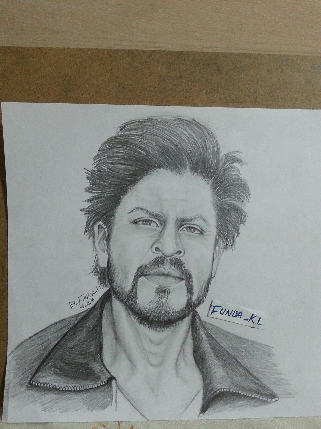 Shahrukhkhan sketch karakalem karışık in 2019 3d pencil