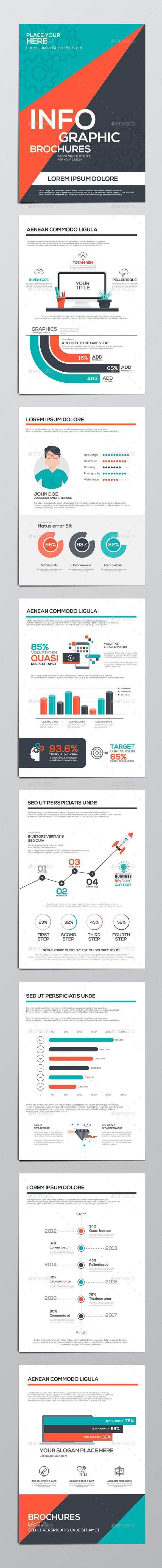 Infographics Elements For Corporate Brochures In 2020 Corporate Brochure Design Infographic Graphic Design Brochure