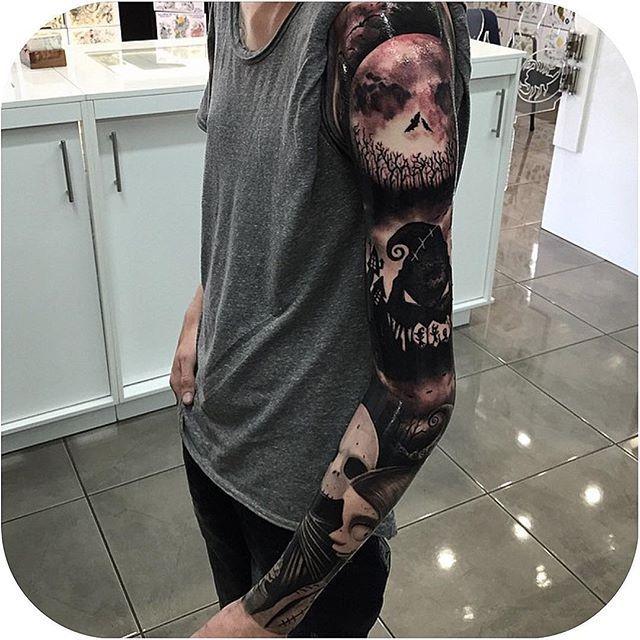 The Nightmare Before Christmas tattoo, via Tattoodo