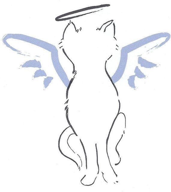 Angel Cat Greeting Card By Rottweilergiftshop On Etsy 2 50 Angel Cat Cat Tattoo Cat Greeting Cards