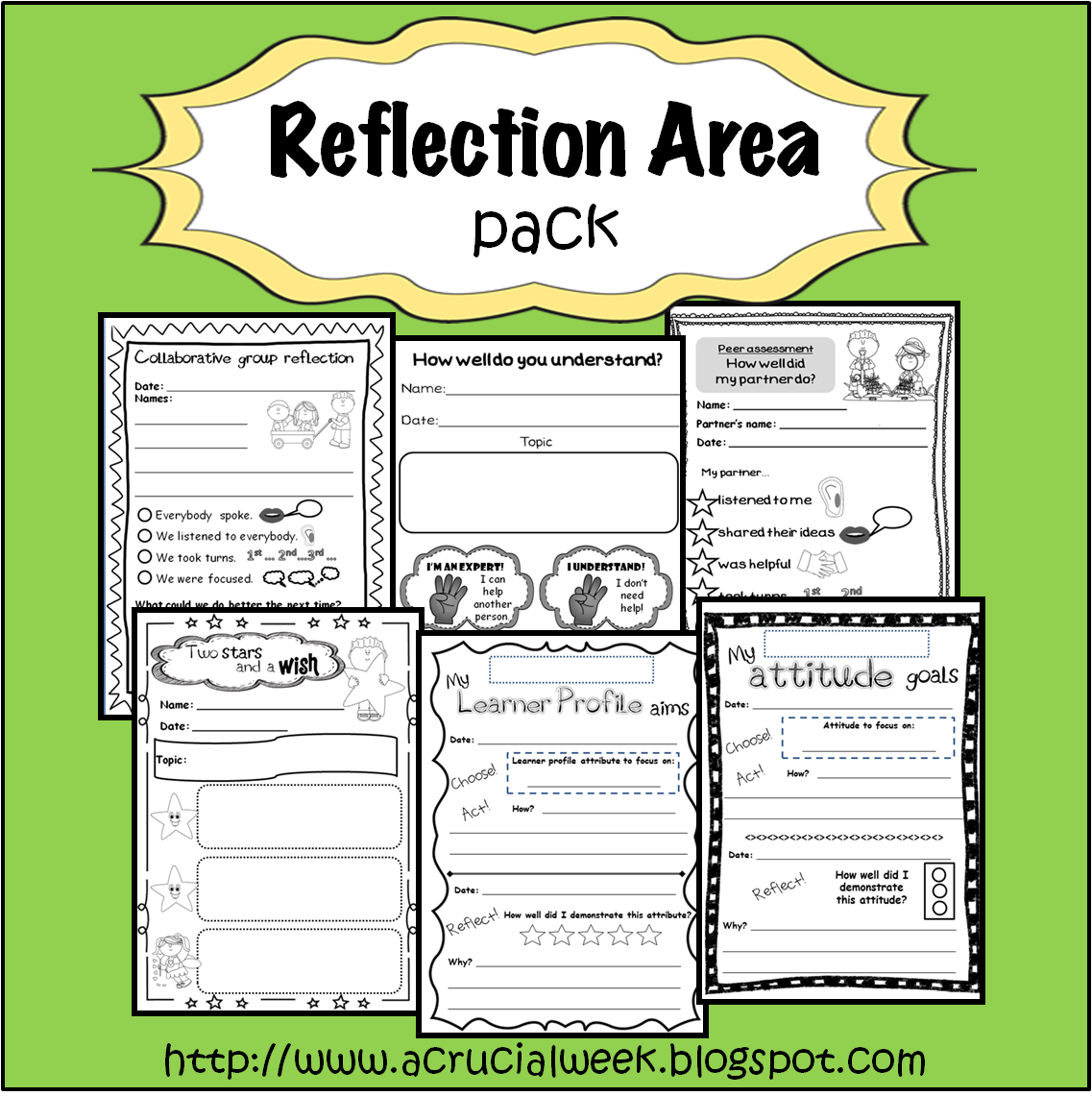 Reflection Area Pack With PeerAssessment GroupAssessment