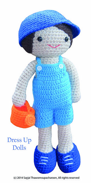 Amigurumi Doll Naughty Boy Free Crochet Pattern - Crochet.msa.plus | 640x320