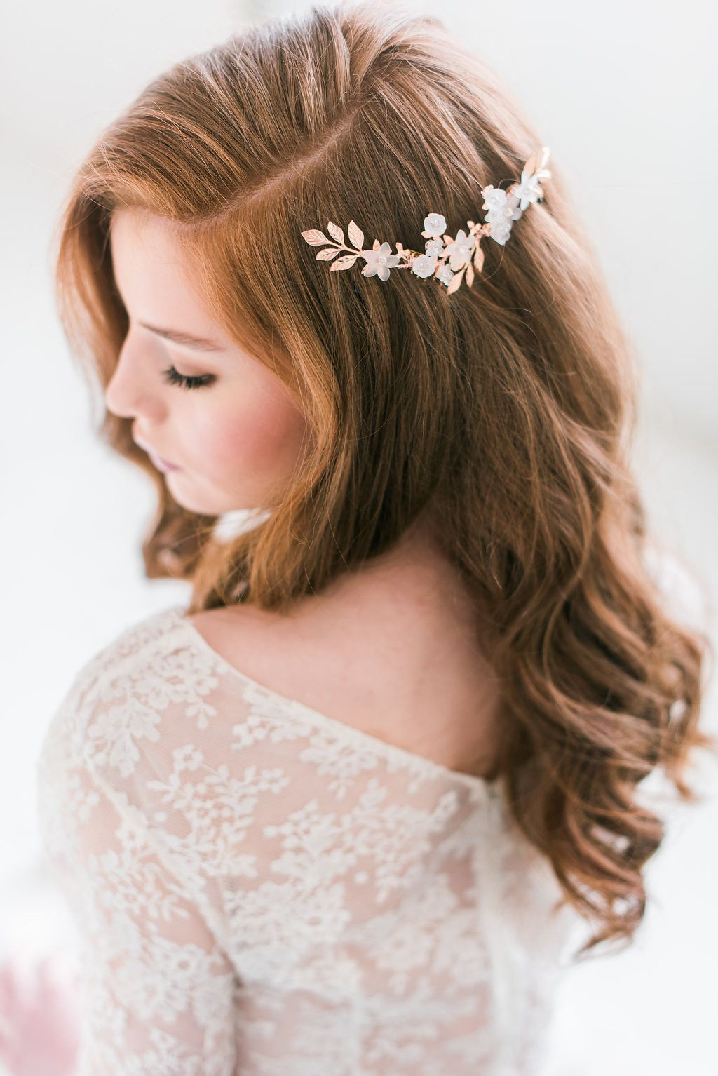 rose gold floral comb - style 3002 in 2019 | products | hair