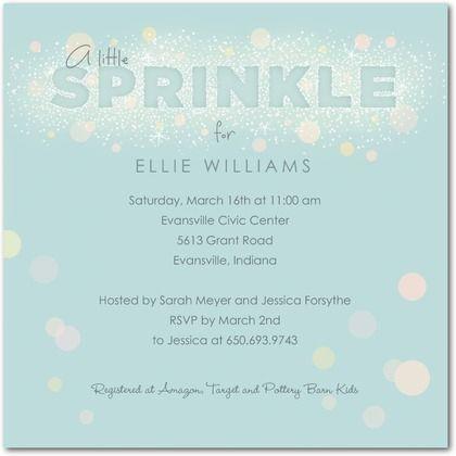 Little Sprinkle Sky Baby Shower Invitations In Sky Hallmark